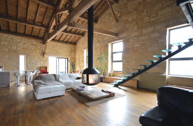 contemporary rotating fireplace  AGORAFOCUS 850