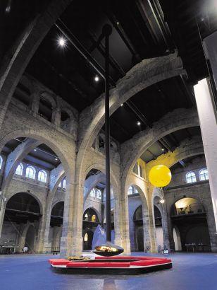Cheminée design centrale Gyrofocus situé à Bordeaux