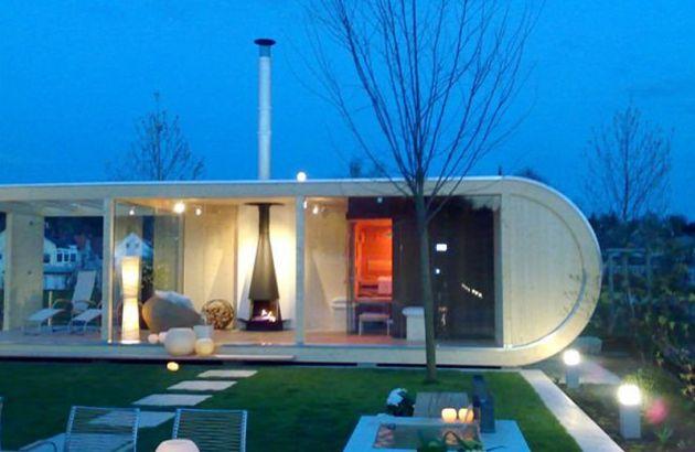 Cheminée Design Filiofocus dans un environnement vitré