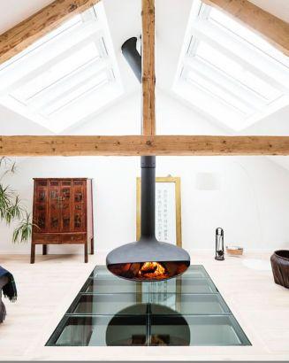 cheminée centrale design Gyrofocus